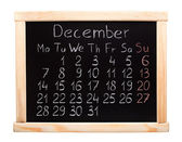 2015 year calendar. December. Week start on monday — Stock Photo