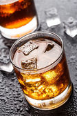 Glass with alcoholic drink — 图库照片