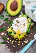 Avocado sandwich — Zdjęcie stockowe