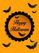 Gelukkig halloween geest vleermuis pictogramachtergrond — Stockvector