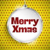Christmas Ball on Star Pattern — Stock Vector
