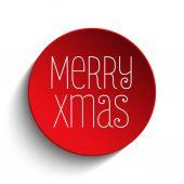Christmas Icon Button Red — Stock Vector