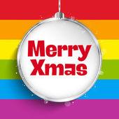 Gay Flag Merry Christmas Ball — Stock Vector