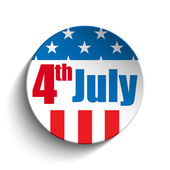 United States Independence Day Button — Stock Vector