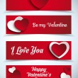 Valentines Day Banners — Stock Vector #62090769