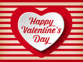 Valentine den srdce — Stock vektor