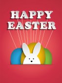 Happy Easter Rabbit Bunnies — Vetor de Stock