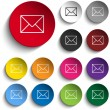 Mail Envelope Icon Circle Set — Stock Vector #74488285