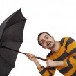 Man with umbrella — Stock Photo #57438435