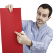 Man holding a paper — Stock Photo #59952267