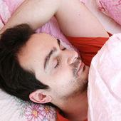Young man sleeping . — Stock Photo
