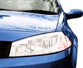 Blue Sport Car - Front side, half — Stock Photo