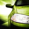 Green Sport Car - Front side — Stock Photo #68059339