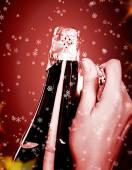 Opening champagne bottle — Stock Photo