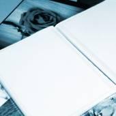 Photo Album with copy space — Stock Photo