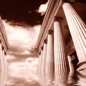 Greek pillars — Stock Photo