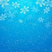 Fondo de navidad con copos de nieve — Vector de stock