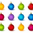 Set of color Christmas balls — Stock Vector #56172977