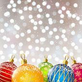 Farbe-weihnachtskugel — Stockvektor