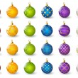 Set of color Christmas balls — Stock Vector #56913873