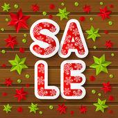 Christmas sale message — Stock Vector