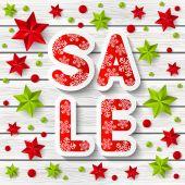 Christmas sale message — Vector de stock