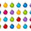Set of color Christmas balls — Stock Vector #57379829