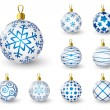 Set of blue Christmas balls — Stock Vector #57846317