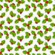 Seamless pattern with holly berries — Stock Vector #58774165