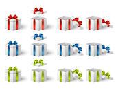 Dárkové krabičky — Stock vektor