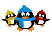 Cartoon penguins — Stock Vector