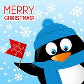 Lustige Cartoon-Pinguin — Stockvektor