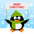 Christmas penguin — Stock Vector #60661605