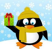 Cute cartoon penguin — Stock Vector