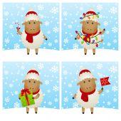 New Year sheep — Stock Vector