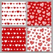 Seamless patterns with hearts — Stock Vector #62685481