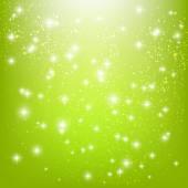 Yeşil zemin üzerine yıldız — Stok Vektör