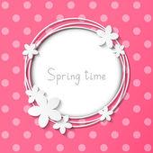 Floral pink frame — Stock Vector