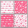 Seamless patterns with hearts — Stock Vector #63892045