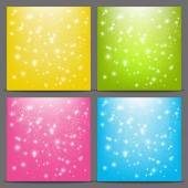 Color starry backgrounds — Vector de stock