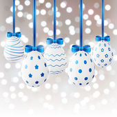 White Easter eggs — Stock Vector