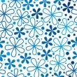Blue floral seamless pattern — Stock Vector #65976365