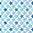Blue floral seamless pattern — Stock Vector #65976367