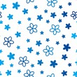 Blue floral seamless pattern — Stock Vector #65976397