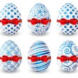 Set of Easter eggs — Stock Vector #65976445