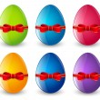 Set of Easter eggs — Stock Vector #67610427