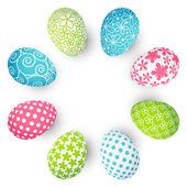 πολύχρωμα αυγά του πάσχα — Διανυσματικό Αρχείο