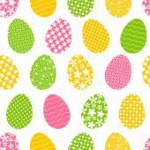 πολύχρωμα πασχαλινά αυγά — Διανυσματικό Αρχείο
