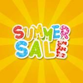 Paper summer sale message — Stock Vector