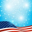 Independence Day card with American flag — Stock Vector #74309883